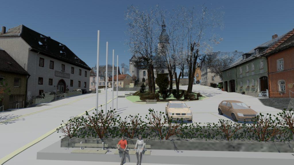Fotomontage Marktplatz